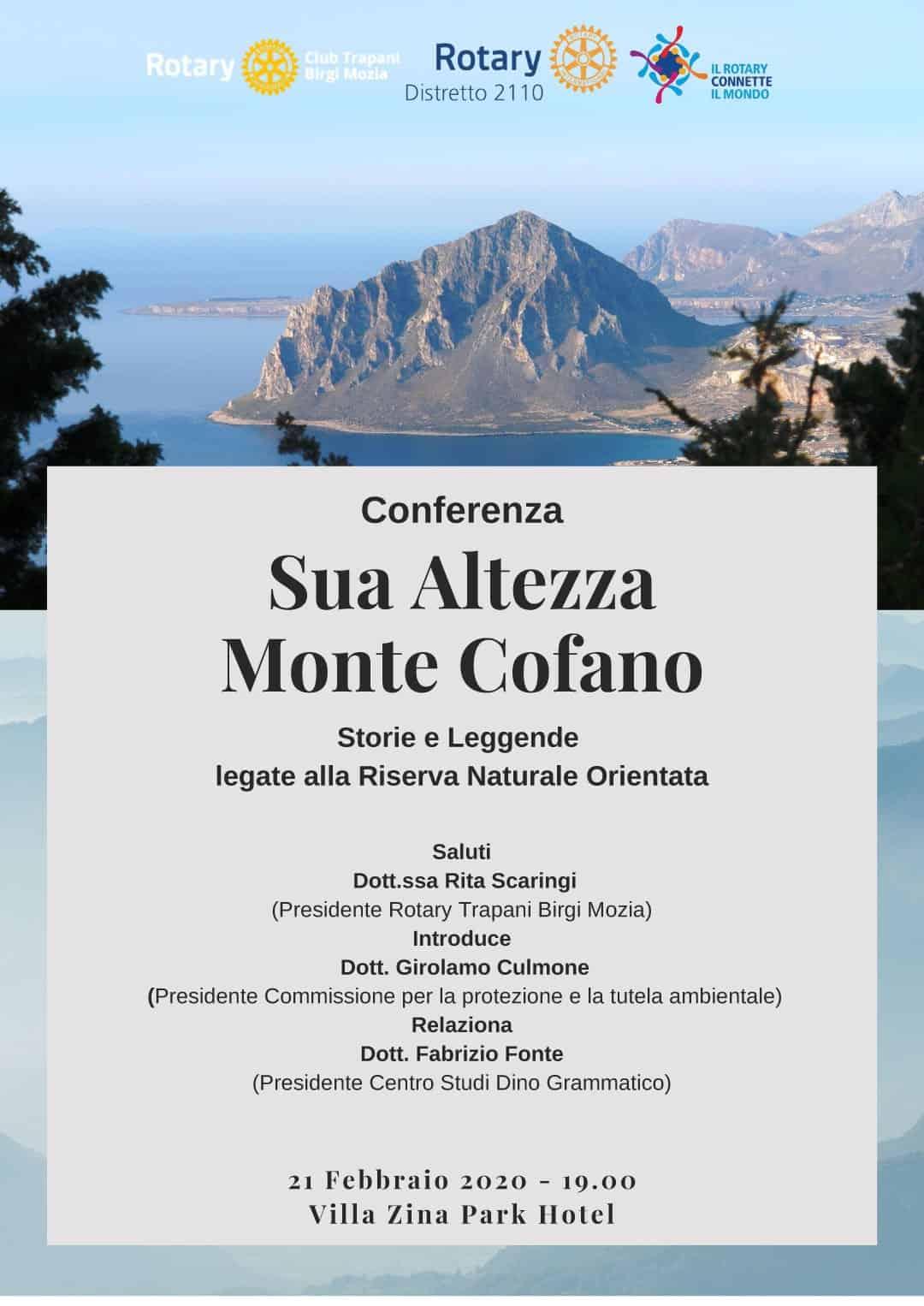 """Conferenza – """"Sua Altezza Monte Cofano"""""""