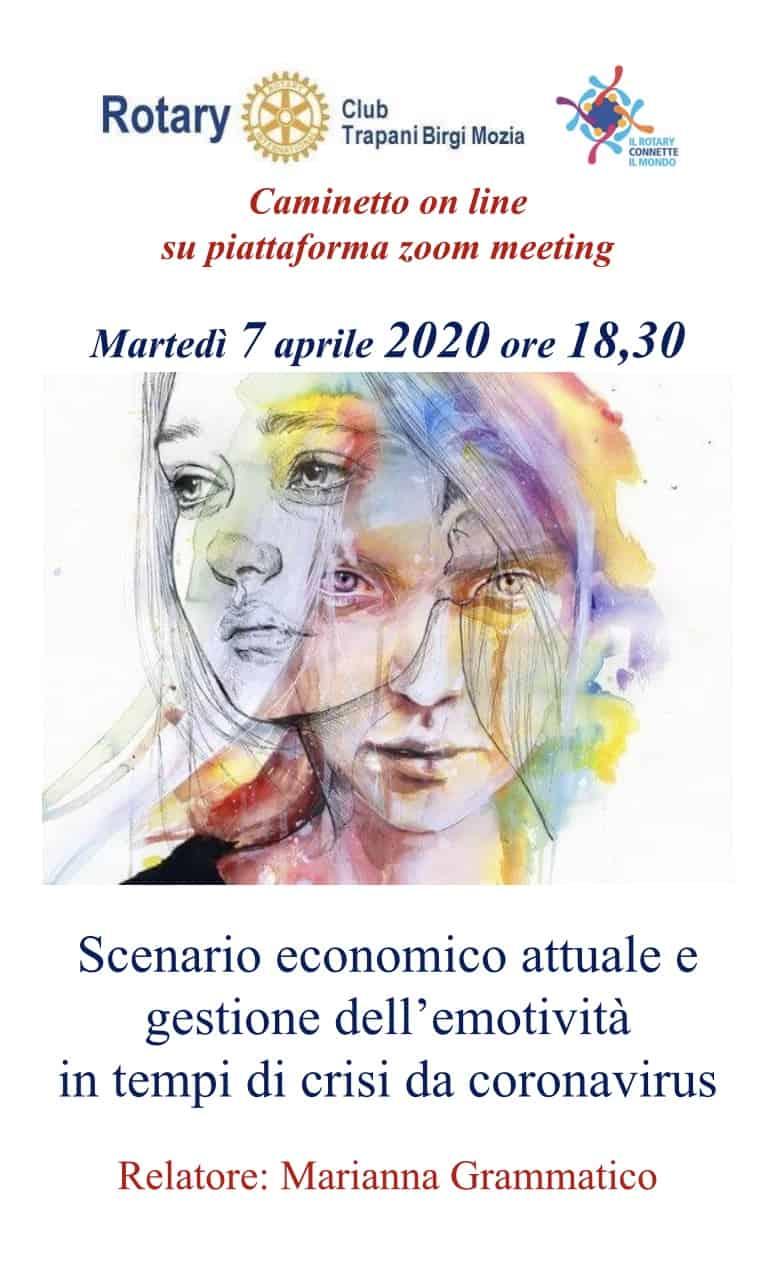 """Caminetto online – """"Scenario economico attuale e gestione dell'emotività in tempi di crisi da coronavirus"""""""