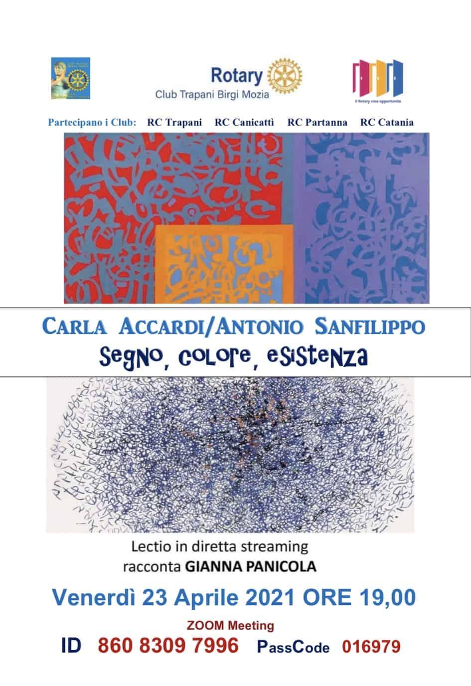 """Carla Accardi/Antonio Sanfilippo """"Segno, colore, esistenza"""""""